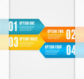 Vector infographics options banner 1 2 3 4 — Stock Vector