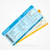 Vector Modern Airline boarding pass tickets — Vettoriale Stock