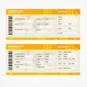 Vector Modern Airline boarding pass tickets — Stock Vector