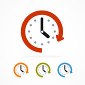 Vector color clock icon. — Stock Vector