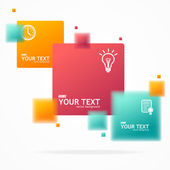 Vector blurred colorful text boxes, infographics — Stock Vector