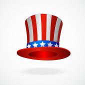Uncle Sams hat vector. 4 of July celebration icon — Stock Vector