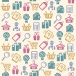 Vector Set of shopping icons pattern — Stock Vector #62032425