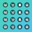 Vector Set of shopping cart icons — Stock Vector #62032393