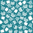 Vector Set of shopping cart icons pattern — Stock Vector #62032423