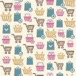 Vector Set of shopping cart icons pattern — Stock Vector #62032449