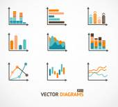 Infographic set elements, graph, diagrams. — Stock Vector