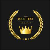 Vector golden crown — Stock Vector