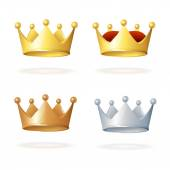 Vector. Set of royal crowns — Stock Vector