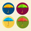 Vector colorful umbrellas set. Flat Design — Stock Vector #65416101