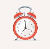 Vector red wakeup clock. Flat Design — Stock Vector