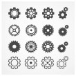Vector gear icon set. Flat Design — Stock Vector #66259407