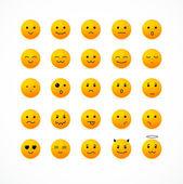 Vektor-Lächeln-Icon-set. — Stockvektor