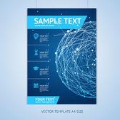Vector abstract sphere brochure design templates — Stock Vector