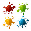 Vector colorful blot set — Stock Vector #68892723