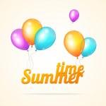 Vector summer ballon card — Stock Vector #69681747