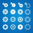 Vector gear icon set. Flat Design — Stock Vector #70757753