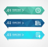 Vector paper triangle option banner — Stok Vektör
