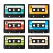 Vector Cassette Tape Collection — Stock Vector #75388455