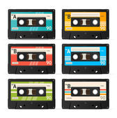 Vector Cassette Tape Collection  — Stock Vector