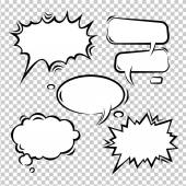 Vector set of comic bubbles empty — Stockvector
