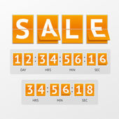 Vector Countdown Timer Sale — Stock Vector