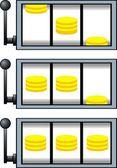 Lucky machine isolated  — Stock Vector