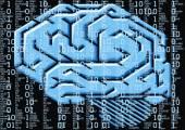 Human brain as technology illustration — Stock Vector