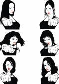 Nice womens head  — Stock vektor