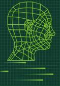 Cabeza humana 3d — Vector de stock