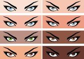 Women eyes — Stock Vector