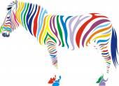 Zebra hayvanı — Stok Vektör