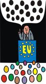 Problem in european union — Stock Vector