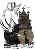 Eski i̇spanya yat — Stok Vektör