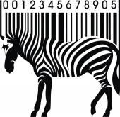 Zebra kodów kreskowych — Wektor stockowy