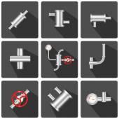 Pipeline elements icon app — Stock Vector