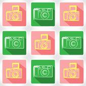 App icon camera — Stock Vector