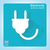 Power energy symbol. Electrical plug. — Stock Vector