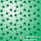 Feast of Saint Patrick, abstract background — Stock Vector