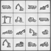 Macchine edili — Vettoriale Stock