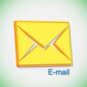 メール、封筒、手紙のポスト — ストックベクタ