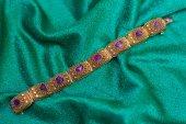 Antique amethyst bracelet — Stock Photo