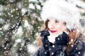 Portrait in snowy weather — Foto de Stock