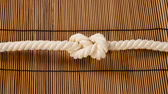 Rope with a knot — Stock Photo