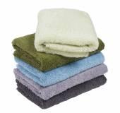 Stapel van terry handdoeken — Stockfoto