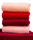 Stack of terry towels — Stock Photo