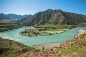 Twist Katun river in the Altai Mountains — Stock Photo