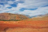 Red mountains, Altai Mountains, Russia — Stock Photo