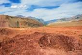 Red mountains, Altai Mountains, Russia — Zdjęcie stockowe
