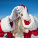 Portrait of Santa Claus outdoors — Stock Photo #55779691